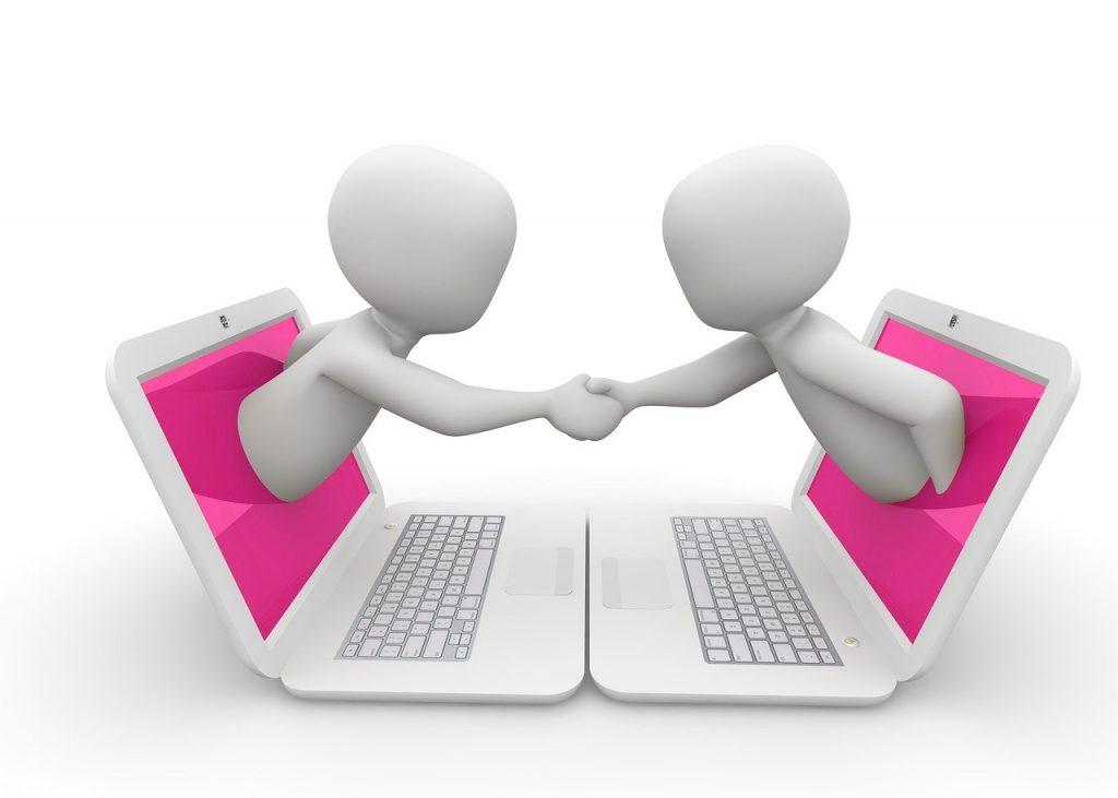 Online-Kommunikation per Internet